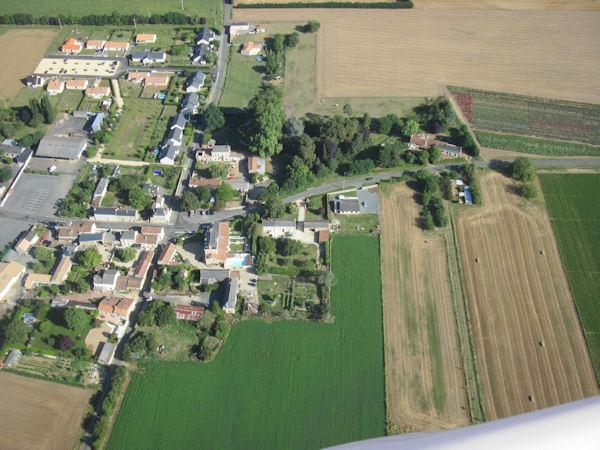 Aerial view of Manoir de Gourin taken from a microlight