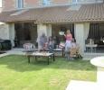Wine tour guests garden at Manoir de Gourin