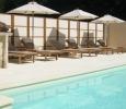 heated pool at Manoir de Gourin