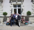 Wine tour guests arriving at Manoir de Gourin