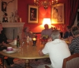 Lively discussion with Simon around the dining table