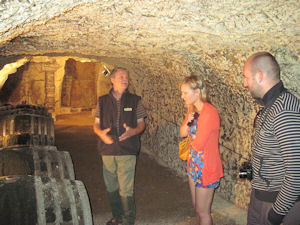 Loire wine tours in cellar with winemaker