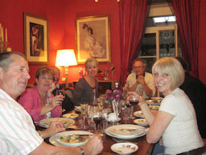 wine tasting dinner guests