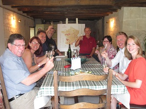 loire wine tours wine tasting room at Manoir de Gourin