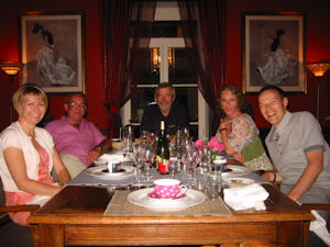 Wine tasting dinner Loire Wine Tours