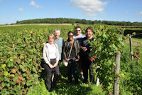 in a saumur champigny vineyard