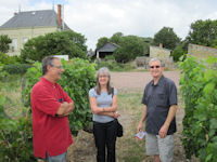 Australian guests in vineyard with winemaker